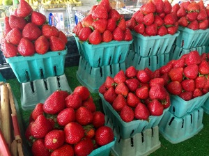 Elmer's Market. You could smell these strawberries! Beautiful strawberries!