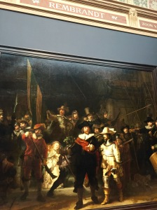 Rembrandt's Night Watch. BTW, they did not care if you took photos here. Not so at Van Gogh.